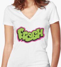 Fresh graffiti Women's Fitted V-Neck T-Shirt