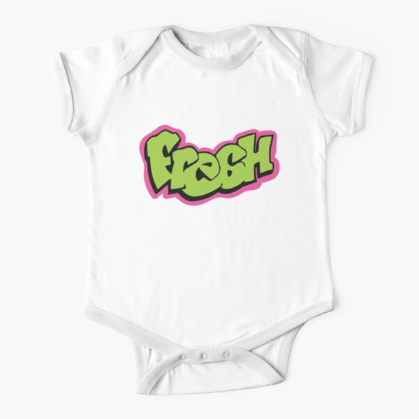 Fresh graffiti Short Sleeve Baby One-Piece