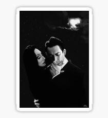 Gomez and Morticia Addams Sticker