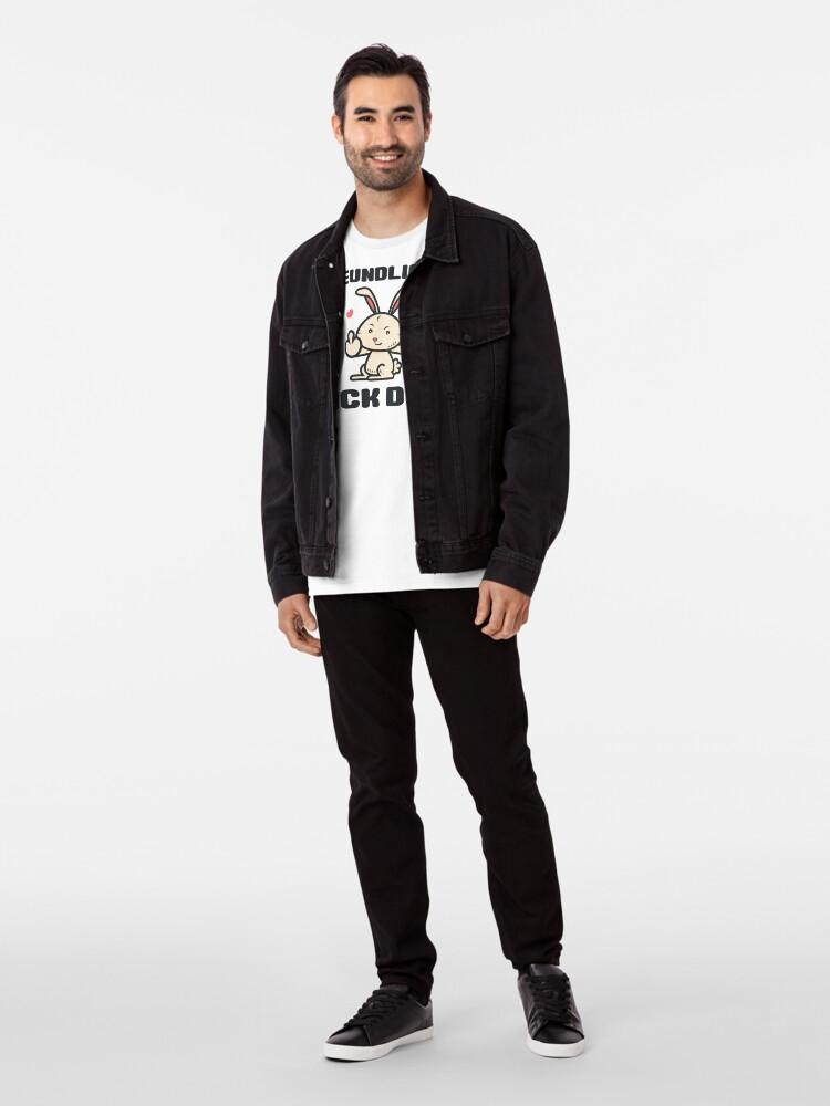 Alternative Ansicht von Freundlichst, Fick Dich Premium T-Shirt
