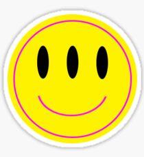 3 Eyed Smiley Sticker Sticker