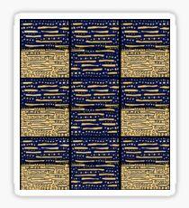 Blue, gold geometric pattern Sticker