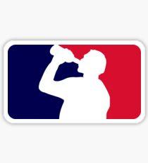 Funny drinking league Sticker