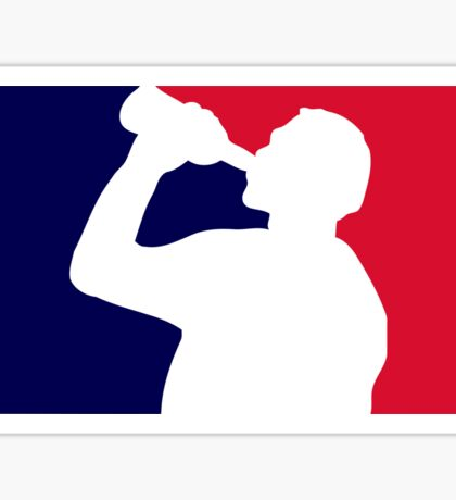 Funny drinking league Sticker