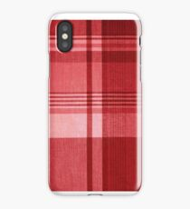 Red Plaid iPhone Case/Skin