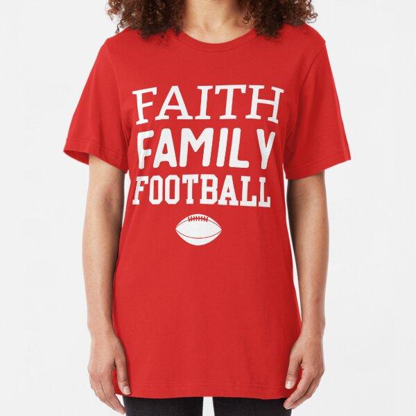 Faith Family Football Slim Fit T-Shirt