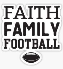 Faith Family Football Sticker