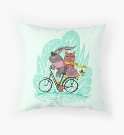 Ride Along Throw Pillow