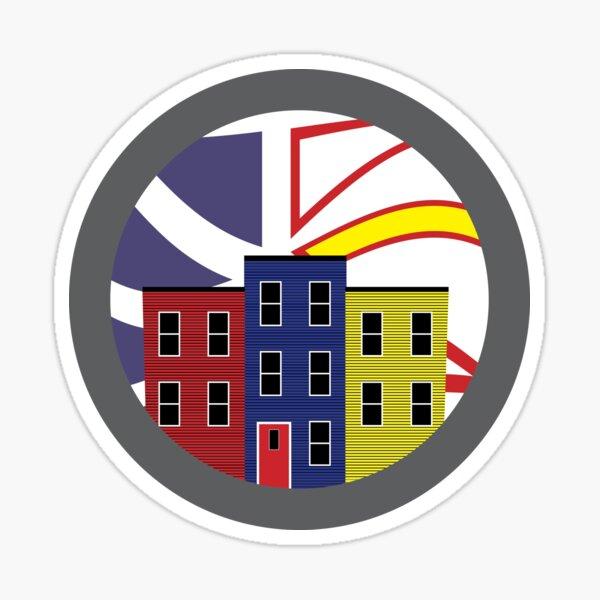Jelly Bean Row in Newfoundland Sticker