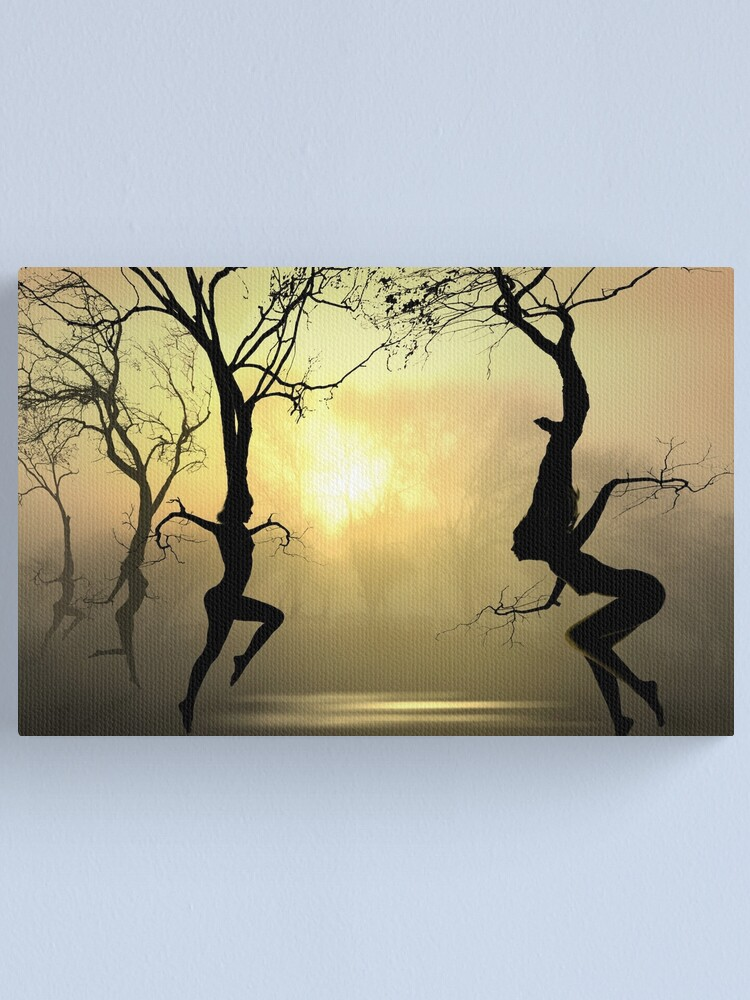 Alternate view of Dancing Trees Canvas Print