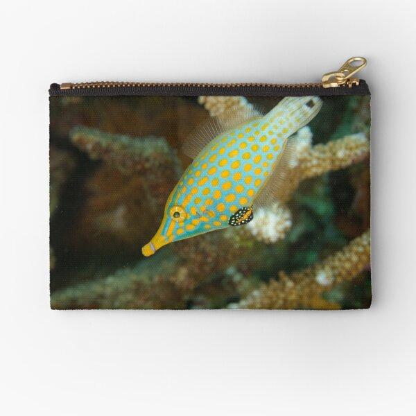 Orange-Spotted Filefish - Oxymonacanthus longirostris Zipper Pouch