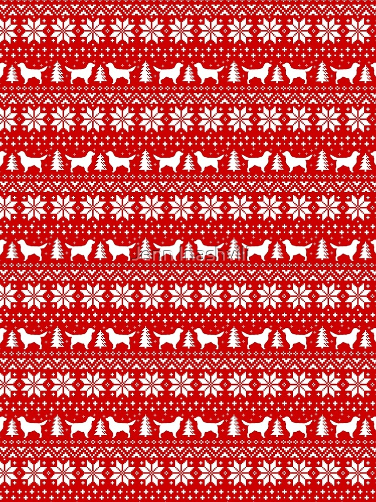 golden retriever silhouettes christmas sweater pattern by shortcoffee