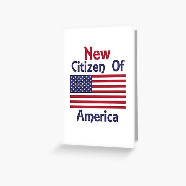Nueva Ciudadanía de América Ciudadanía de camiseta Tarjetas de felicitación