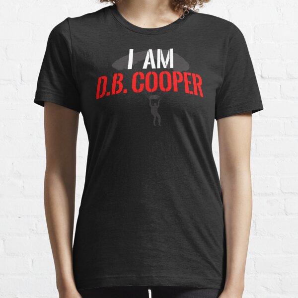 I Am DB Cooper - Black Clean Essential T-Shirt