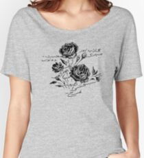 Roses and Love Urdu Poem Calligraphy Relaxed Fit T-Shirt