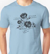 Roses and Love Urdu Poem Calligraphy Unisex T-Shirt