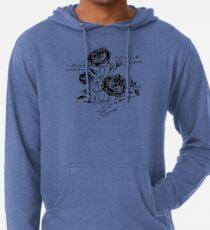 Roses and Love Urdu Poem Calligraphy Lightweight Hoodie