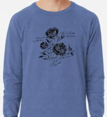 Roses and Love Urdu Poem Calligraphy Lightweight Sweatshirt