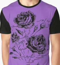 Roses and Love Urdu Poem Calligraphy Graphic T-Shirt