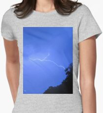 little bolt on a hot day Womens Fitted T-Shirt
