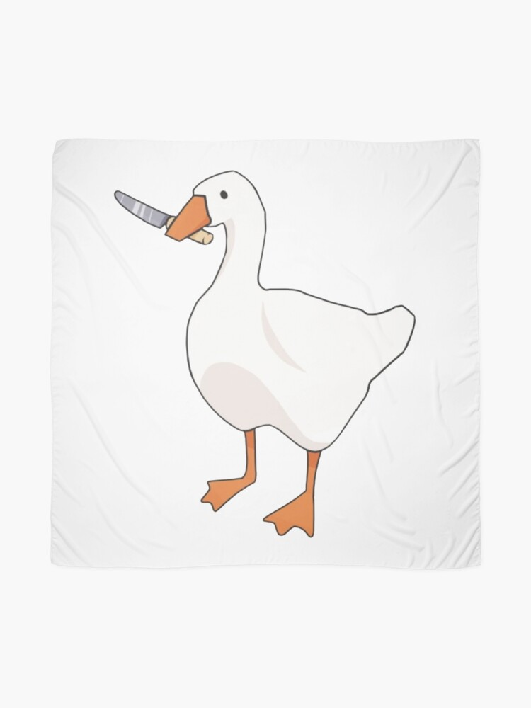 Alternate view of Duck with knife Scarf