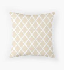 Moroccan Quatrefoil Pattern: Muslin Beige Throw Pillow