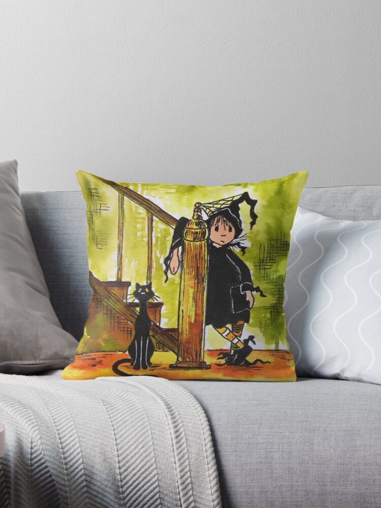 Little Witch and Cat by Hajra Meeks