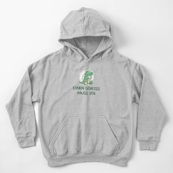 I have to give a shit - dinosaur motif Kids Pullover Hoodie