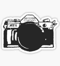 Canon AE-1 black and White Sticker