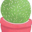 Glücklicher fetter Kaktus von batkatbrown