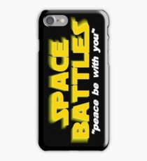 SPACE BATTLES peace be with you iPhone Case/Skin