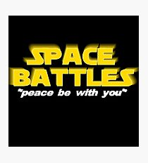 SPACE BATTLES peace be with you Photographic Print