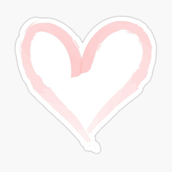 Watercolor heart. Sticker