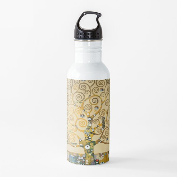 The Tree of Life with gold stripe by Gustav Klimt Water Bottle