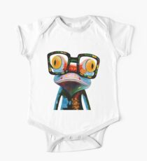 Hipster Frog Nerd Glasses Kids Clothes