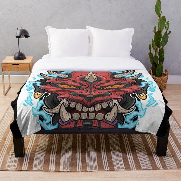 Japanese Oni Art BabyBee Throw Blanket