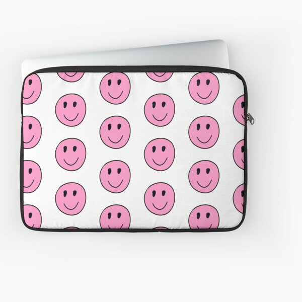 The Pink Smiley Laptop Sleeve