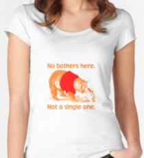 No Bothers Here, Pooh, Winnie, Honey, Bear, No Fox Given, Hunty, Hunny, Lazy, IDGAF, Eeyore, Piglet, Tigger, Christopher Robbins, Parody Women's Fitted Scoop T-Shirt