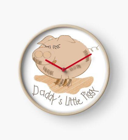 Daddy's little piggy- Babies clothing Clock