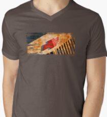 Chevy Rat Rod Badge Men's V-Neck T-Shirt