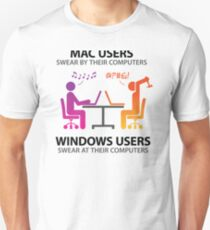 Mac users swear by their computers T-Shirt