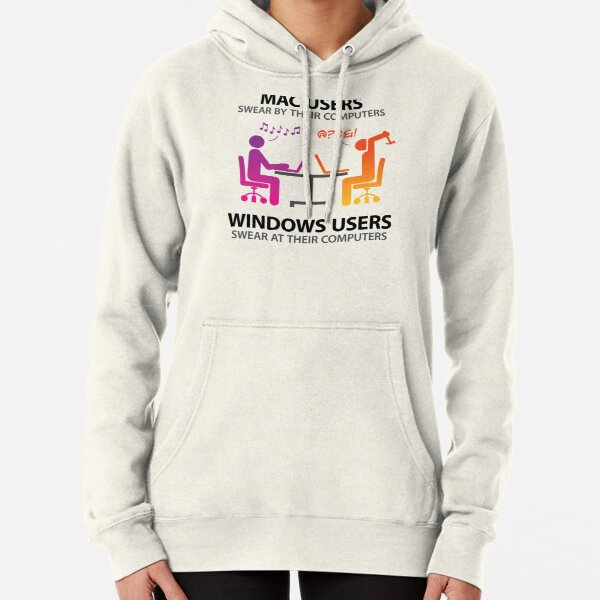 Mac users swear by their computers Pullover Hoodie