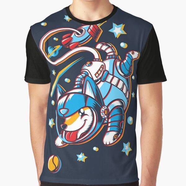 Space Corgi Graphic T-Shirt