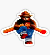 Vintage Smokey the Bear Match Break Sticker