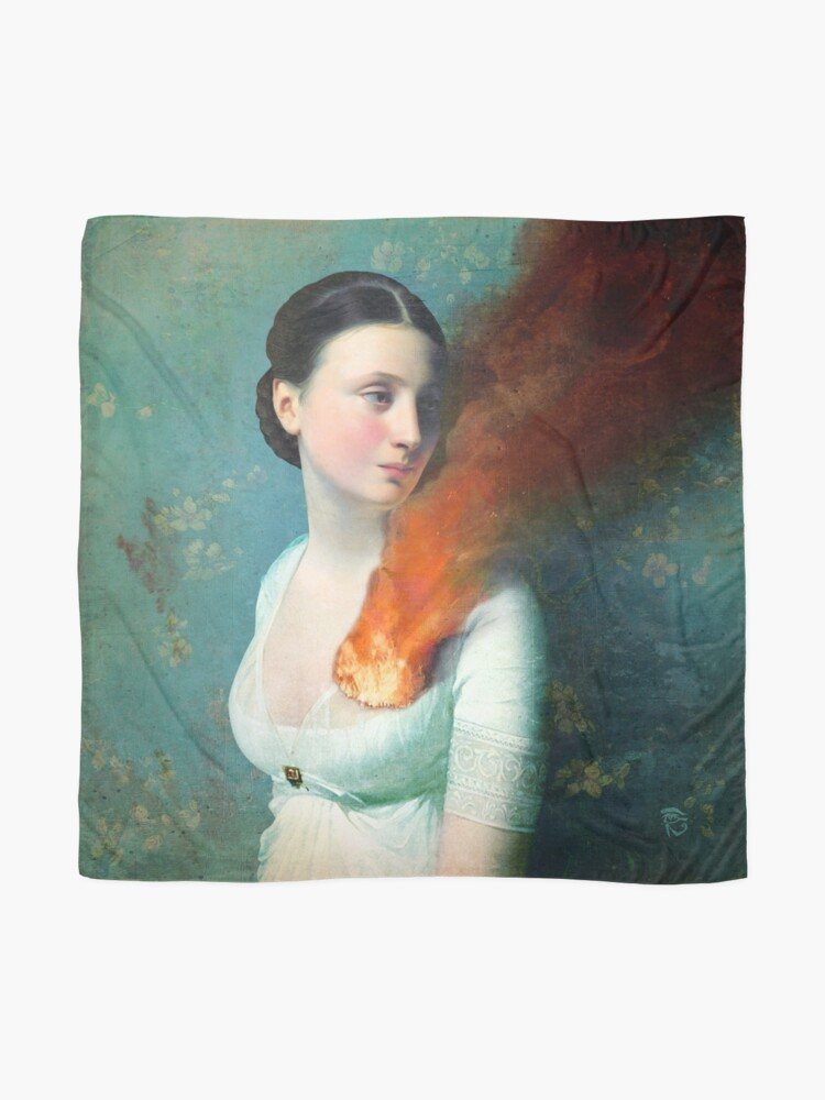 Alternate view of Portrait of a heart Scarf