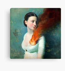 Portrait of a heart Canvas Print