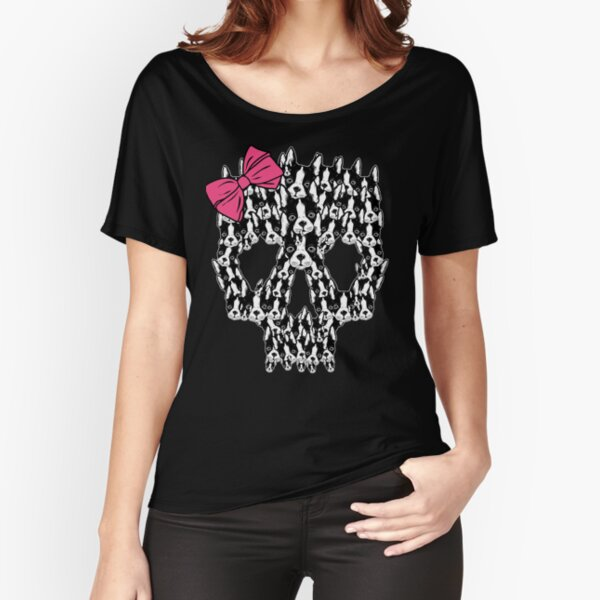 Boston Terrier Sugar Skull Relaxed Fit T-Shirt