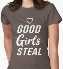 Good girls steal (Softball) Women's Fitted T-Shirt