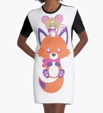 Cozy Critters Graphic T-Shirt Dress