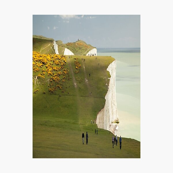 Seven Sisters Eastbourne East Sussex England Photographic Print